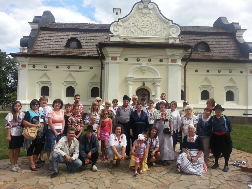 Zarjanka is in Oekraïne bij het huis van Mazepa na ons concert tijdens 2 folklore festivals in Tshernigov en in Lubetsh.