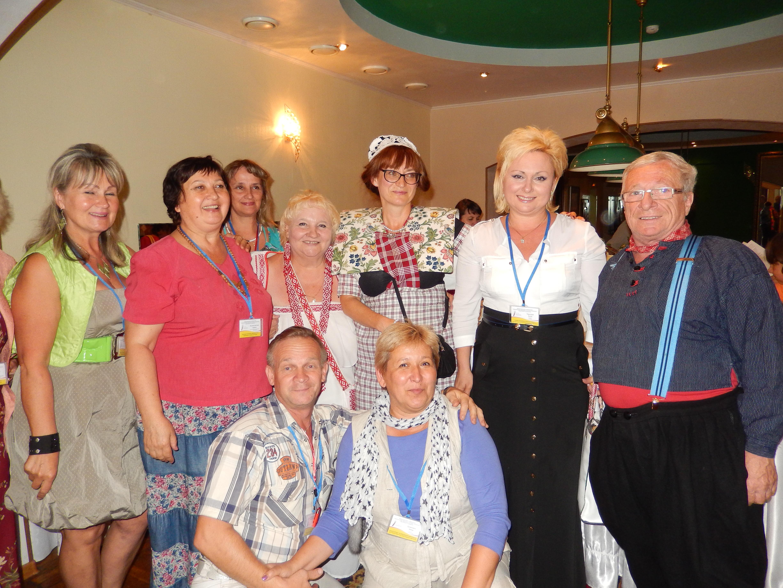 Na de conferentie in Svjetlogorsk in Rusland op 13.08.2014 samen met collega's