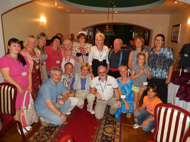 Na de conferentie in Svjetlogorsk in Rusland op 13.08.2014 groepsfoto met collega's